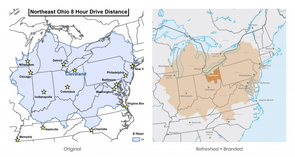 NEO 8-Hour Drive Time Map
